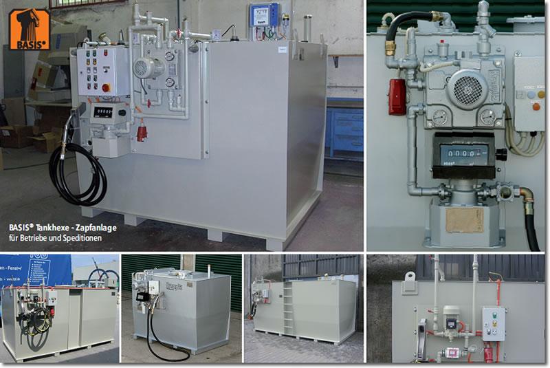 Betriebstankstelle für Diesel oder Pflanzenöle