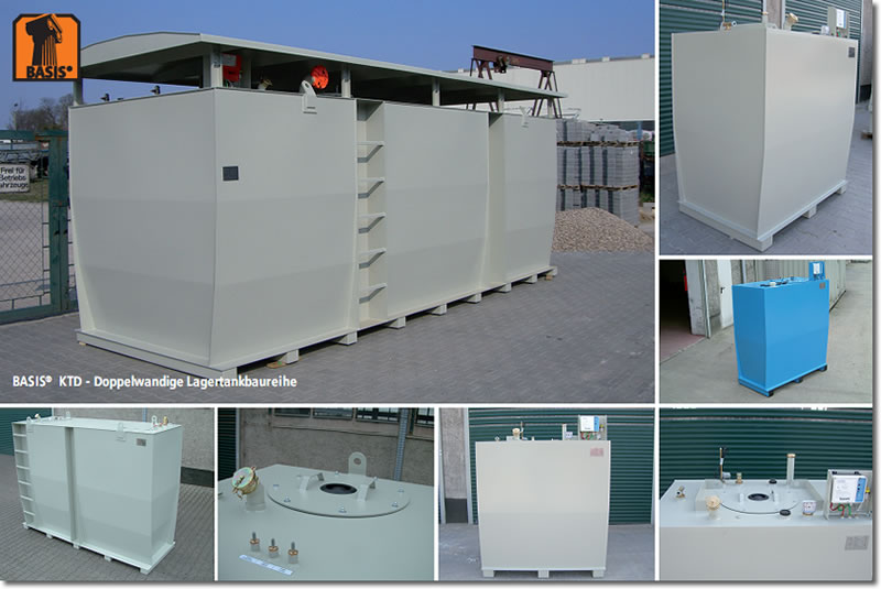Doppelwandige Lagertanks zur Außenaufstellung
